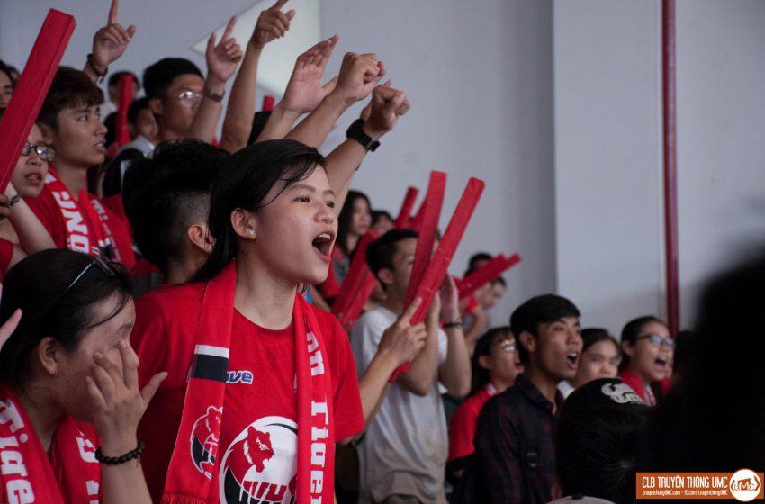 """Các chàng trai """"Hổ đỏ"""" trong ngày đầu khởi động với đối thủ Đại học Nông lâm"""